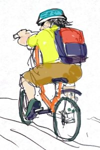 In consideration of the environment I have chosen to use a bike and Public transportation.