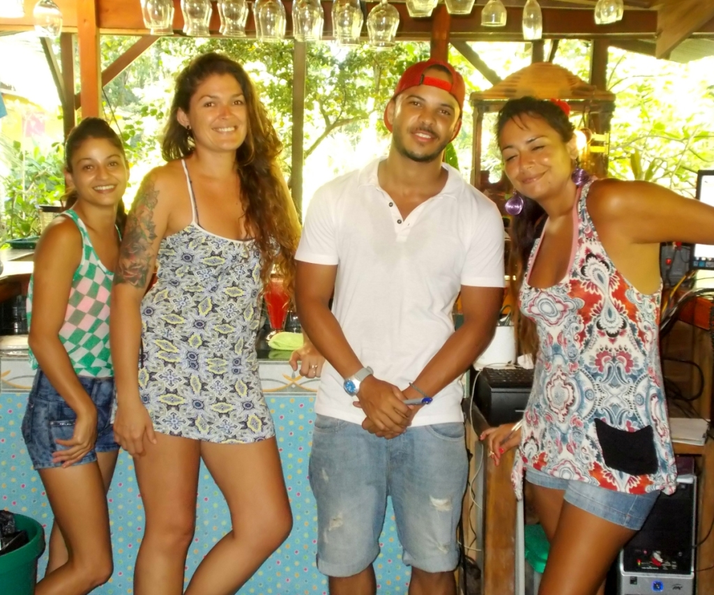 Restaurant Selvins Punta Uva. Serving Staff